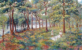 Madame Lebasque and Her Daughter at the Edge of the Marne, c.1899 by Henri Lebasque | Giclée Canvas Print