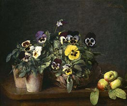 Fantin-Latour | Still Life with Pansies, 1874 | Giclée Canvas Print