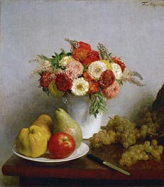Fantin-Latour | Flowers and Fruits, 1865 | Giclée Canvas Print