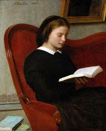 Fantin-Latour | The Reader, 1861 | Giclée Canvas Print