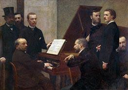 Fantin-Latour | At the Piano, 1885 | Giclée Canvas Print