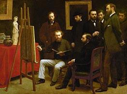 Fantin-Latour | The Atelier of the Batignolies, 1870 | Giclée Canvas Print