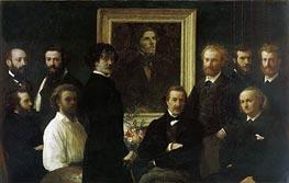 Fantin-Latour | Homage to Delacroix, 1864 | Giclée Canvas Print
