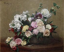 Fantin-Latour | Roses, 1881 | Giclée Canvas Print