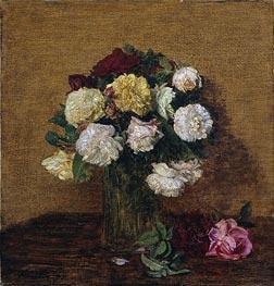 Fantin-Latour | Roses in a Vase, 1878 | Giclée Canvas Print