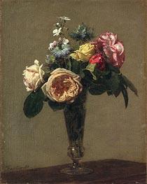 Fantin-Latour | Flowers in a Vase, 1882 | Giclée Canvas Print
