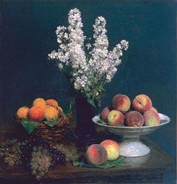 Fantin-Latour | White Rockets and Fruit, 1869 | Giclée Canvas Print