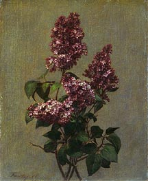Fantin-Latour | Spray of Purple Lilac, 1880 | Giclée Canvas Print