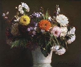 Fantin-Latour | Still Life with Chrysanthemums, 1862 | Giclée Canvas Print