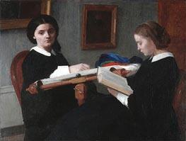 Fantin-Latour | The Two Sisters, 1859 | Giclée Canvas Print