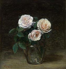 Fantin-Latour | Still Life - Roses, 1877 | Giclée Canvas Print