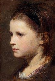 Fantin-Latour | Head of a Young Girl, 1870 | Giclée Canvas Print