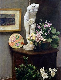 Fantin-Latour | Still Life with Torso and Flowers, 1874 | Giclée Canvas Print