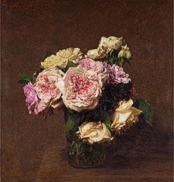 Fantin-Latour | Roses in a Vase, 1894 | Giclée Canvas Print