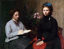 Fantin-Latour | The Reading, 1870 | Giclée Canvas Print