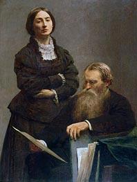 Fantin-Latour | Mr and Mrs Edwin Edwards, 1875 | Giclée Canvas Print