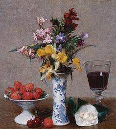 Fantin-Latour | Still Life, 1869 | Giclée Canvas Print