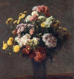 Fantin-Latour | Chrysanthemums In Vase, 1875 | Giclée Canvas Print