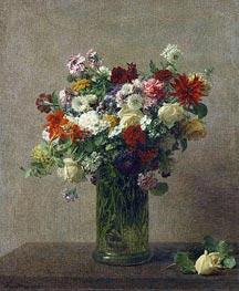 Fantin-Latour | Still Life with Flowers, 1887 | Giclée Canvas Print