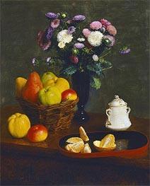 Fantin-Latour | Flowers and Fruit, 1866 | Giclée Canvas Print