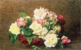 Fantin-Latour | Roses, 1882 | Giclée Canvas Print