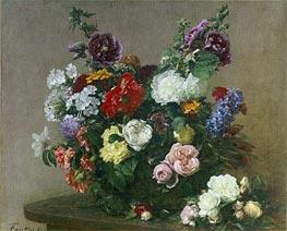 Fantin-Latour | A Bouquet of Mixed Flowers, 1881 | Giclée Canvas Print