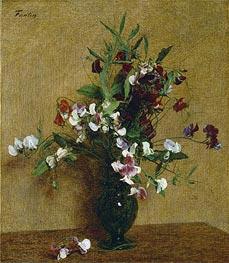 Fantin-Latour | Sweet Peas in a Vase, 1888 | Giclée Canvas Print