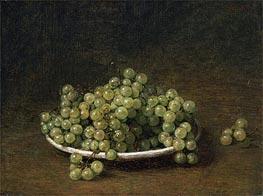 Fantin-Latour | White Grapes on a Plate, 1896 | Giclée Canvas Print