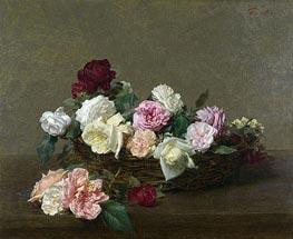 Fantin-Latour | A Basket of Roses, 1890 | Giclée Canvas Print