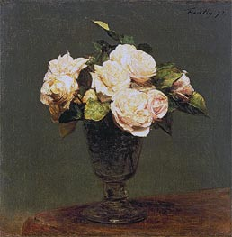Fantin-Latour | White Roses, 1873 | Giclée Canvas Print