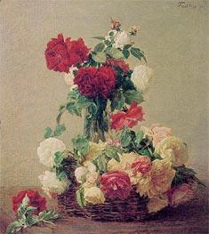 Fantin-Latour | Roses, 1891 | Giclée Canvas Print