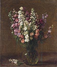 Fantin-Latour | Larkspur, 1887 | Giclée Canvas Print