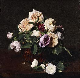 Fantin-Latour | Vase of Flowers, 1876 | Giclée Canvas Print