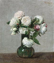 Fantin-Latour | Roses, 1888 | Giclée Canvas Print