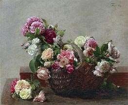 Basket of Roses, 1880 by Fantin-Latour | Giclée Canvas Print