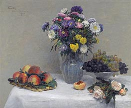 Flowers and Fruits, 1876 by Fantin-Latour | Giclée Canvas Print