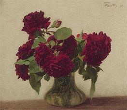 Fantin-Latour | Dark Roses | Giclée Canvas Print