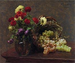 Flowers and Grapes, 1875 by Fantin-Latour | Giclée Canvas Print