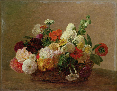 Flower Still Life, undated | Fantin-Latour | Painting Reproduction