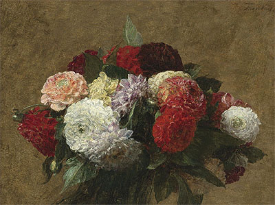 Dahlias, 1899 | Fantin-Latour | Painting Reproduction