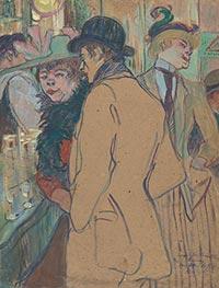 Alfred la Guigne, 1894 by Toulouse-Lautrec   Giclée Canvas Print