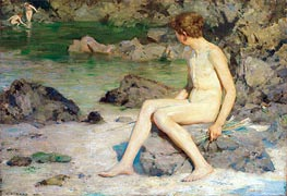 Tuke | Cupid and the Sea Nymphs | Giclée Canvas Print