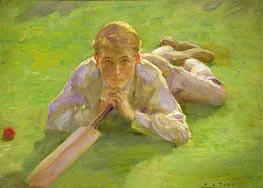 Tuke | Henry Allen in Cricketing Whites | Giclée Canvas Print