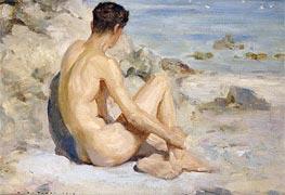 Boy on a Beach, 1912 by Tuke | Giclée Canvas Print