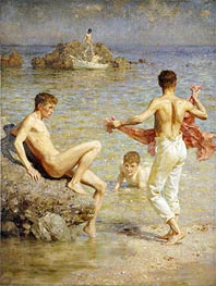 Gleaming Waters, 1910 by Tuke | Giclée Canvas Print
