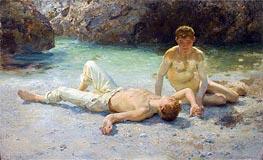 Noonday Heat, 1908 by Tuke | Giclée Canvas Print