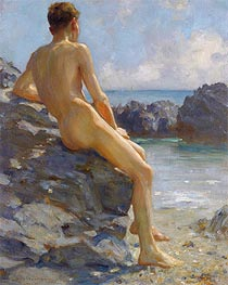 The Bather, 1924 by Tuke | Giclée Canvas Print