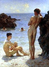Lovers of the Sun, 1923 by Tuke   Giclée Canvas Print