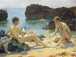 The Sun Bathers, 1927 by Tuke | Giclée Canvas Print