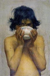 Tuke | Drinking, c.1881 | Giclée Canvas Print